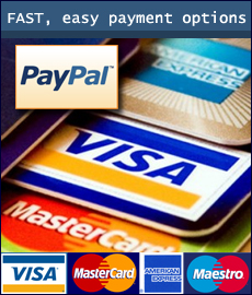 We are pleased to accept all major payment methods.