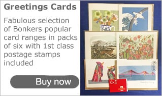 Greetings Card Packs with Stamps at Bonkers Gifts
