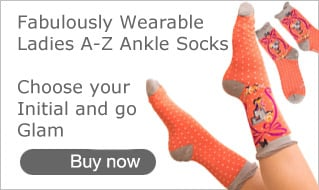 Ladies Ankle Socks A-Z at Bonkers Gifts
